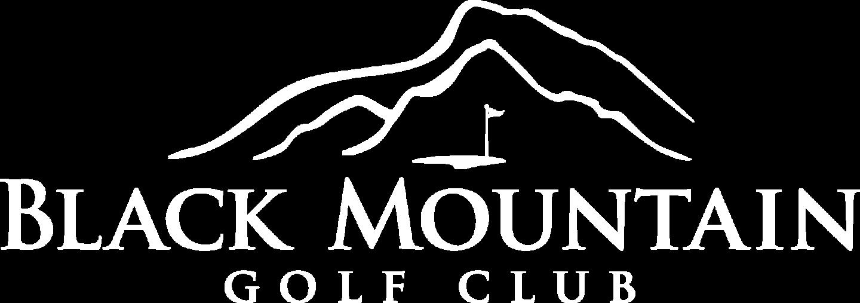white black mountain golf course logo