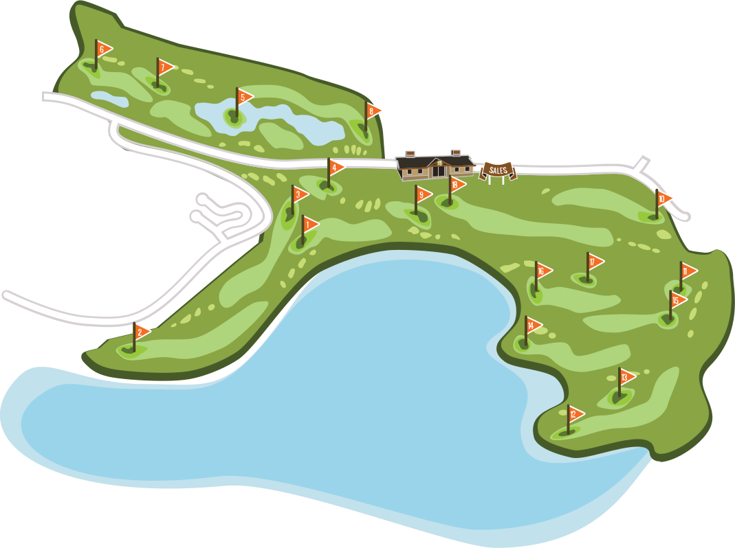 full overview of black mountain golf course