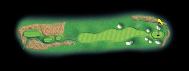 layout for hole 10 at the black mountain golf course