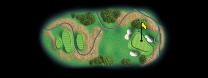 layout for hole 11 at the black mountain golf course