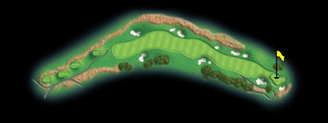layout for hole 12 at the black mountain golf course