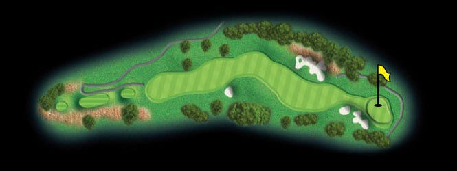 layout for hole 14 at the black mountain golf course