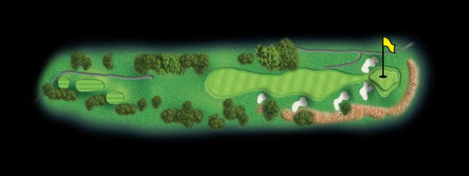 layout for hole 15 at the black mountain golf course