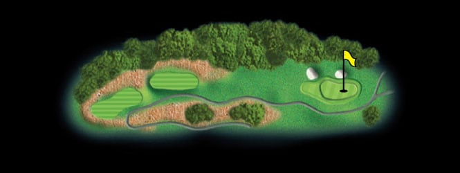 layout for hole 17 at the black mountain golf course
