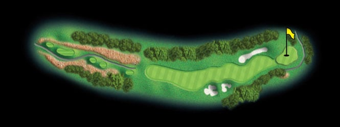 layout for hole 3 at the black mountain golf course