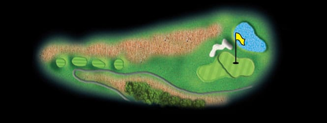 layout for hole 4 at the black mountain golf course