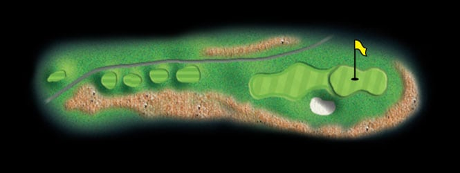 layout for hole 7 at the black mountain golf course