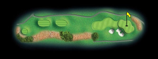 layout for hole 9 at the black mountain golf course